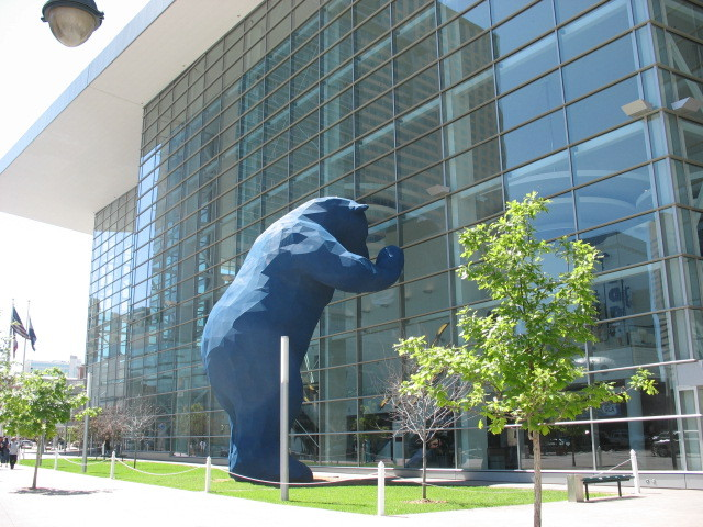Colorado Convention Center bear sculpture